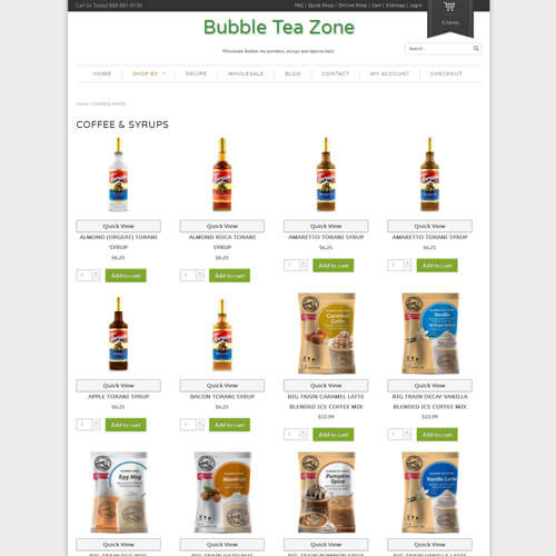 Bubble Tea Zone - COFFEE & SYRUPS