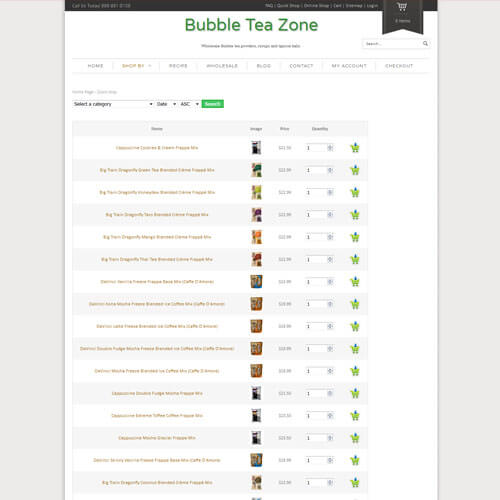 Bubble Tea Zone - Quick Shop
