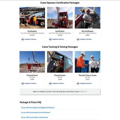 Crane Training Texas - Packages & Pricing