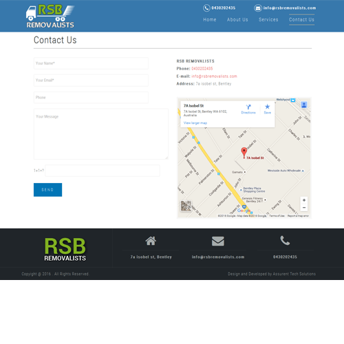 RSB Removalists - Contact Us